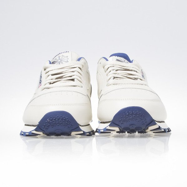 Sneakers buty Reebok CL Leather ecru / navy (28412)