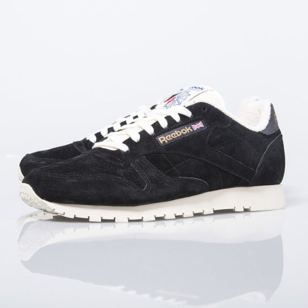 Sneakers buty Reebok Classic CL Leather Clean UJ black / chalk (V67817)