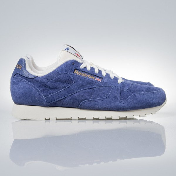 Sneakers buty Reebok Classic CL Leather Clean UJ midnight blue / chalk (V67818)