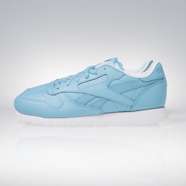 Sneakers buty Reebok Classic CL Leather Seasonal II Women crisp blue / white AR2804