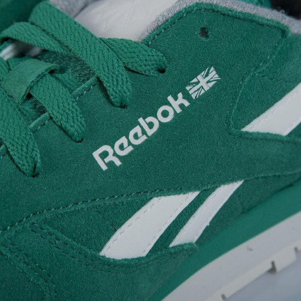 Sneakers buty Reebok Classic CL Leather Suede green / chalk M49099