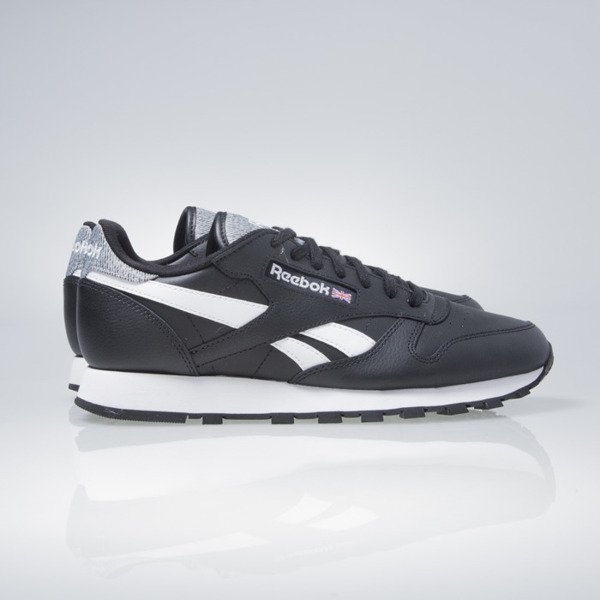 Sneakers buty Reebok Classic Cl Leather Pop black / white (AR0300)
