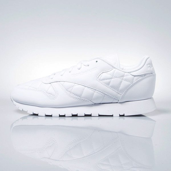 Sneakers buty Reebok WMNS Classic Leather Quilted white (AR1262)