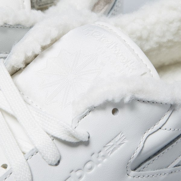 Sneakers buty Reebok WMNS Classic Leather Sherpa chalk / paperwhite / gum (BD1283)