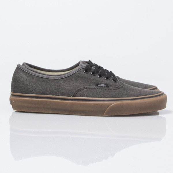 Sneakers buty  Vans Authentic (Washed Canvas) black / gum (VN0004MKAKJ)