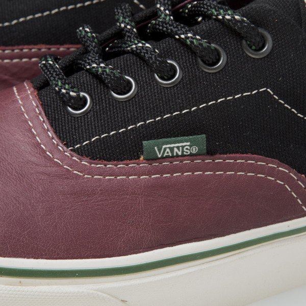 Sneakers buty Vans Era (Leather & 14 oz) Caberne (VN-0 VHQB3X)