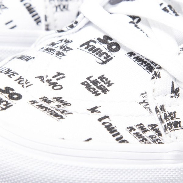 Sneakers buty Vans SK8-Hi Slim Zip (Baron Von Fancy) white / black (VN000XH819Y)