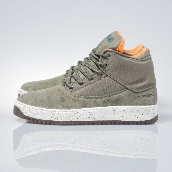Sneakers buty zimowe Cayler & Sons Shutdown army green / flight orange / cream CAY-AW162ND-SN-05-01