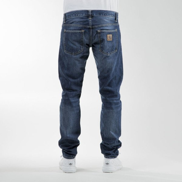 Spodnie Carhartt WIP Buccaneer Pant Hanford Cotton blue denim strand washed