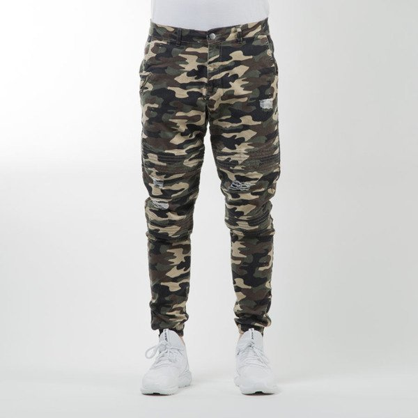Spodnie Cayler & Sons BLACK LABEL Moto Distrassed Jogger woodland  WL-CAY-SU16-AP-11-01