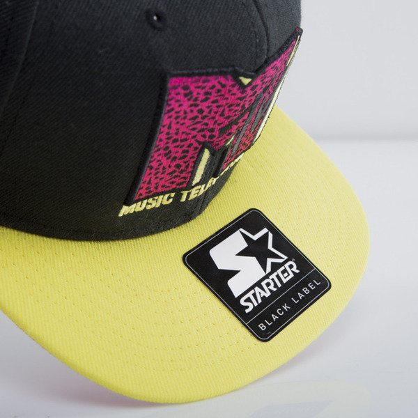 Starter czapka MTV Infill Icon black/yellow MT-005