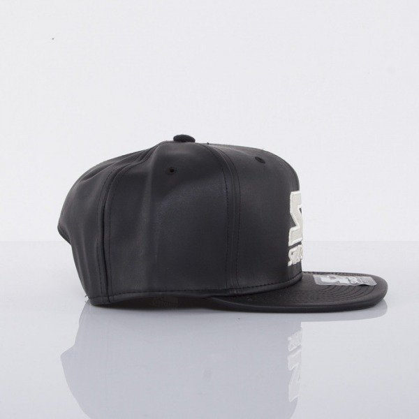 Starter czapka snapback Black Out black leather ST430