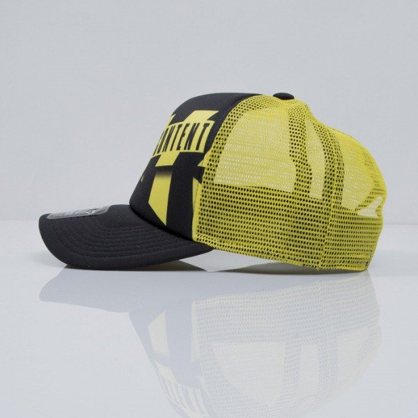 Starter czapka snapback Parental Advisory CAUTION TRUCKER black / yellow (PA-026)