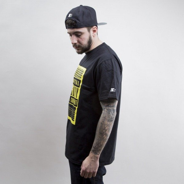 Starter koszulka Parental Advisory POP OFF  black / yellow (T022)