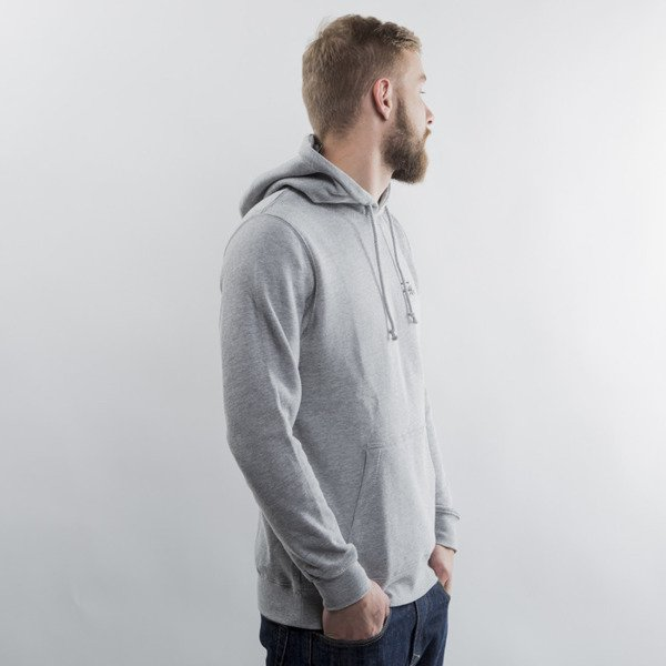 Stussy bluza Basic Logo Hood grey heather
