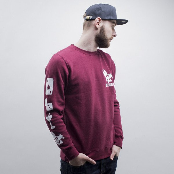 Stussy bluza Stay Paid Crew wine