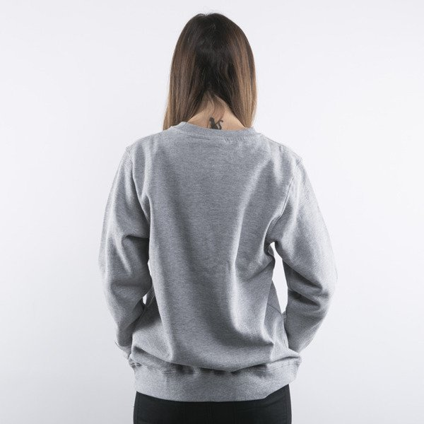 Stussy bluza Stock Crew grey heather WMNS