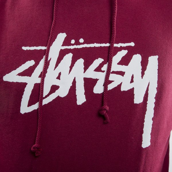 Stussy bluza Stock Hood dark red