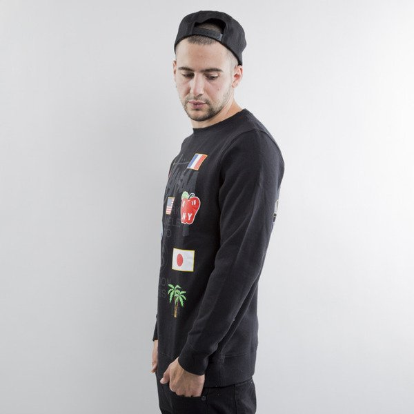 Stussy bluza WT Flags Crew black (World Tour)
