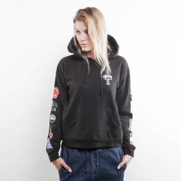 Stussy bluza WT Flags Hood black (World Tour)
