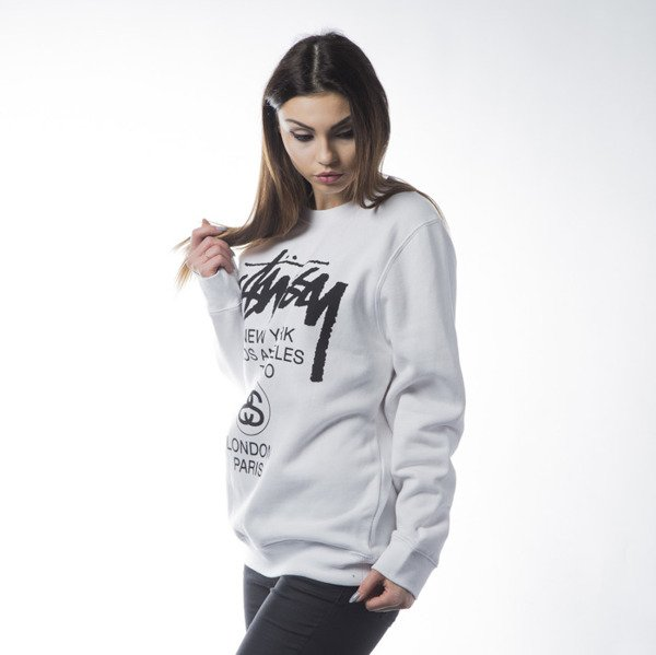 Stussy bluza World Tour Crew white WMNS