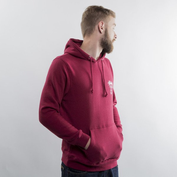 Stussy bluza World Tour Hood dark red