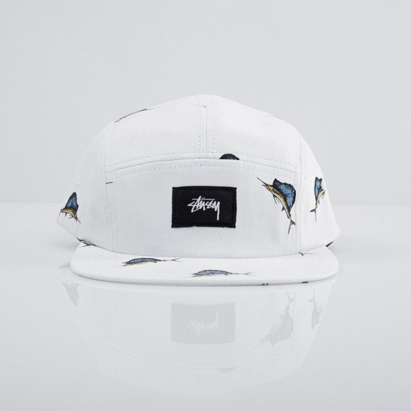 Stussy czapka 5panel Big Catch Camp white