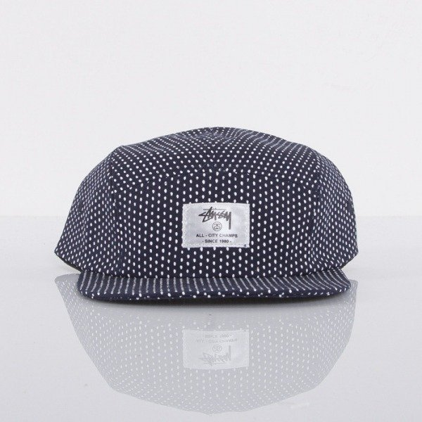 Stussy czapka 5panel White Dot Camp black