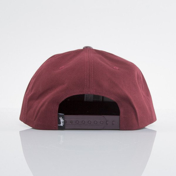Stussy czapka snapback World Tour burgundy