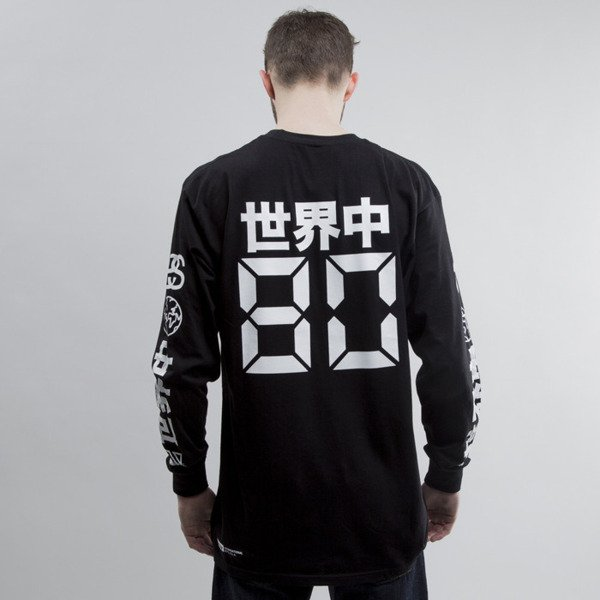 Stussy koszulka longsleeve Japan International black