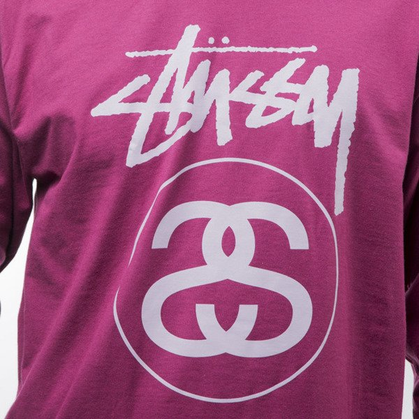 Stussy koszulka longsleeve Stock Link Ls Tee grape