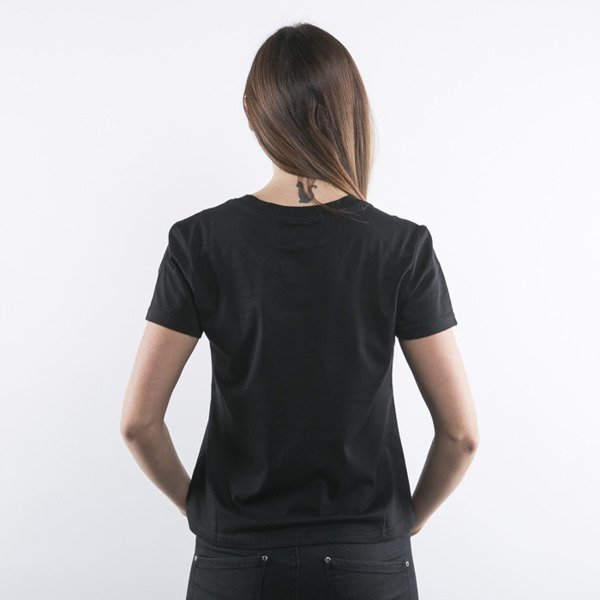Stussy koszulka t-shirt Slash black WMNS