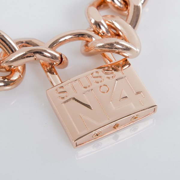 Stussy łańcuszek No. 4 Lock Necklace rose gold