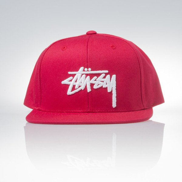 Stussy snapback czapka Stock red