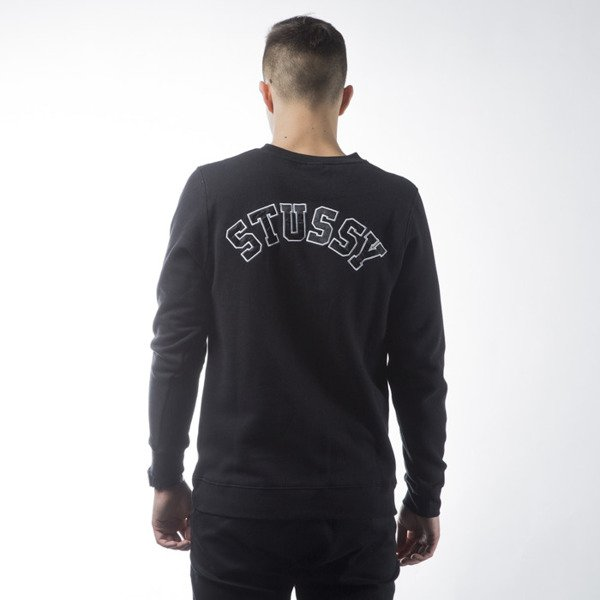 Stussy sweatshirt bluza Back Arc Crew black