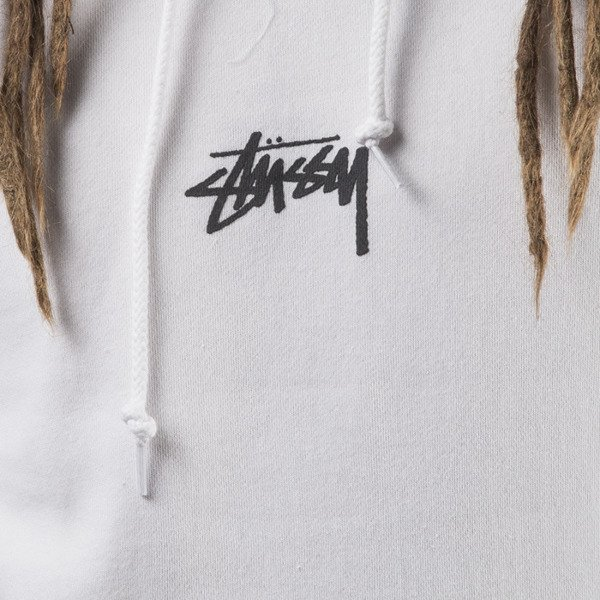 Stussy sweatshirt bluza HD Stock Hood white
