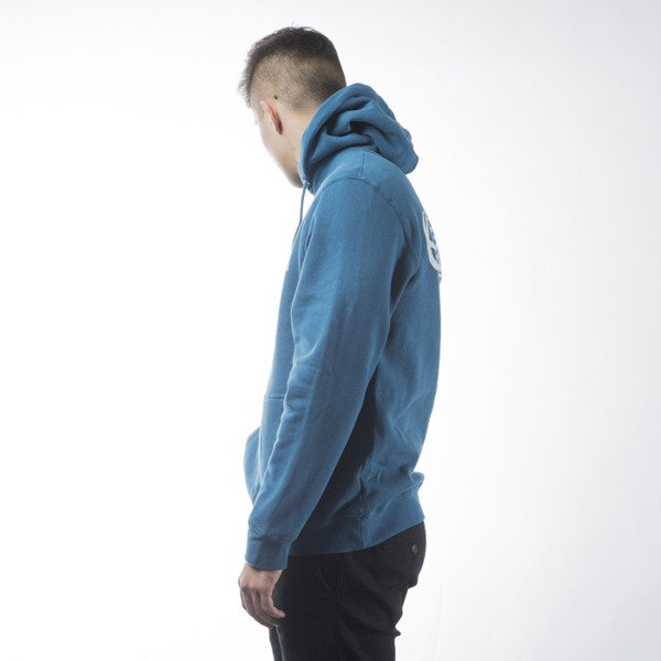 Stussy sweatshirt bluza World Tour Hood ocean blue