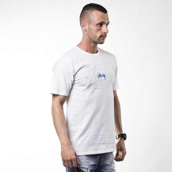 Stussy t-shirt koszulka Rev. Stock Emb. white
