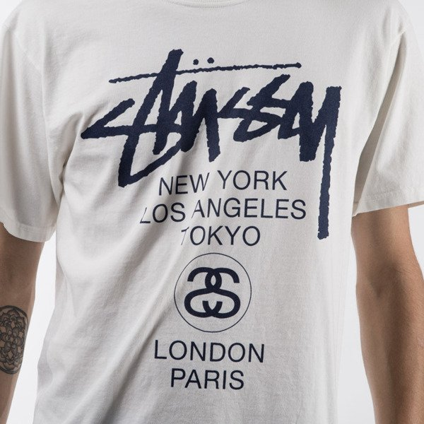Stussy t-shirt koszulka World Tour Pigment Dyed natural