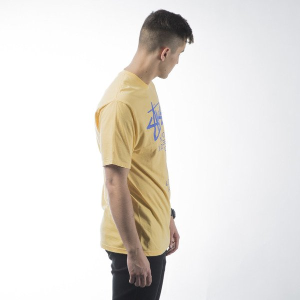 Stussy t-shirt koszulka World Tour yellow