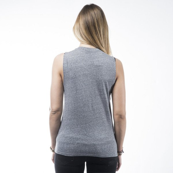 Stussy tank top koszulka World Tour Muscle grey heather WMNS