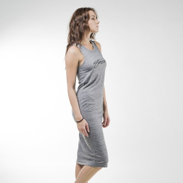 Sukienka Stussy Smooth Stock Maxi grey heather