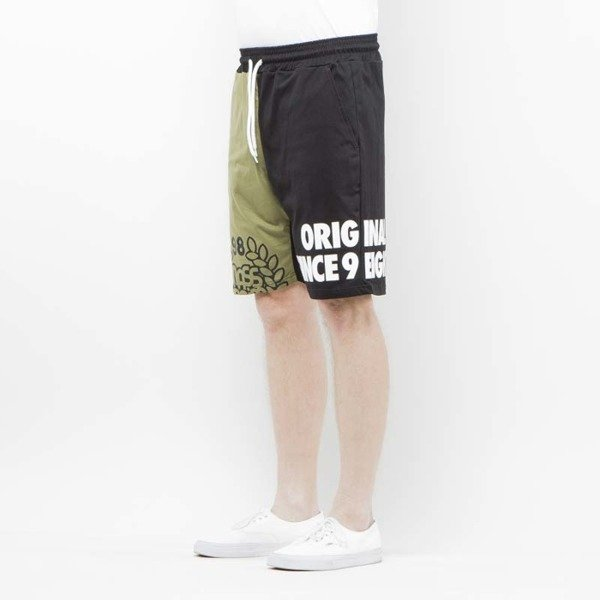 Szorty Mass Denim Sweatshorts Baller khaki / black SS 2017