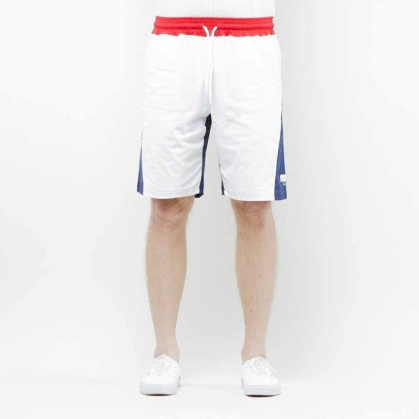 Szorty Mass Denim Sweatshorts Sprint white / navy SS 2017