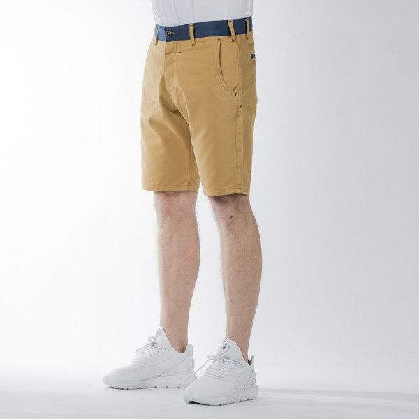 Szorty Turbokolor Chino Shorts olive / ocean blue SS16