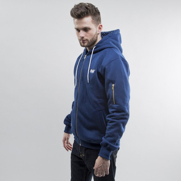 The Wildest Streetwear bluza zip Dots Hoodie navy