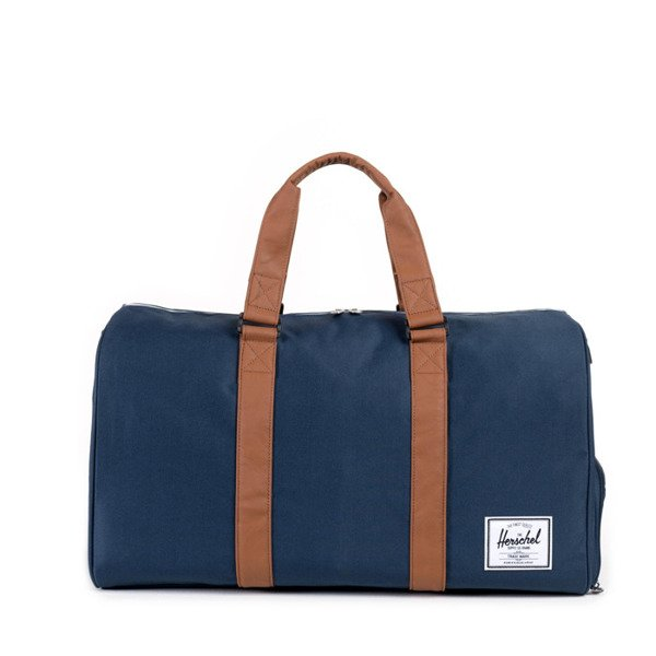 Torba Herschel Novel Duffle navy / tan synthetic leather (10026-00007)