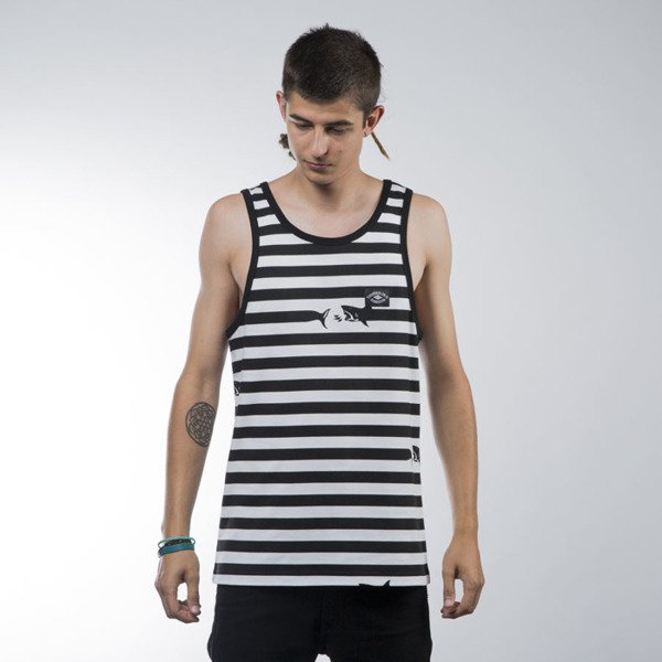 Turbokolor koszulka tank top Maneaters Sailor white / black