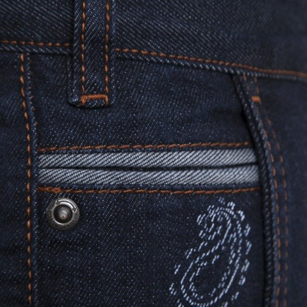 Turbokolor spodnie Chinos Slim-Fit Indigo Paisley