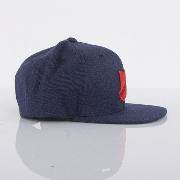 Undefeated czapka snapback 5 Strike navy